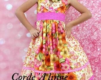 Girls Spring Dress #3  sizes 2T, 3T, 4T, 5, 6, 7, 8