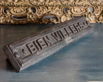 Antique FRENCH Sign, Bien Villers, Copper Clad