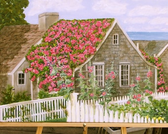 Matted, signed prints of Nantucket artwork   8 x 10 mat, ready to frame
