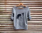 all day everyday Border Collie Shirt, Dog Sweater, Dog Sweatshirt, Gym Top, S,M,L,XL