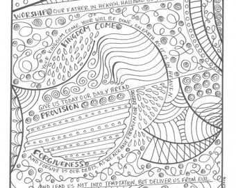The Lords Prayer Coloring Page