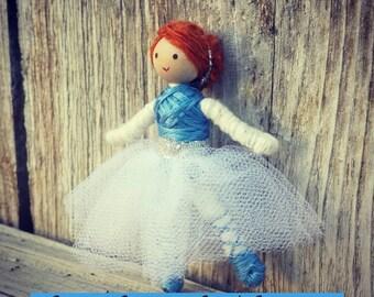 Ballerina Doll - Miniature ballet dancer - bendy doll -
