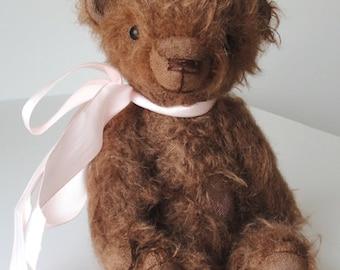 Hand made Collectable artist mini teddy bear stuffed animal OOAK April