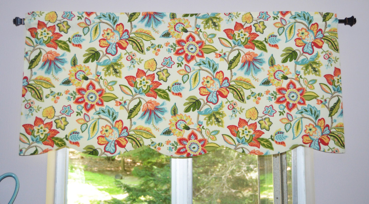 Kitchen Valance Waverly Wonderama Toucan Scalloped Valance