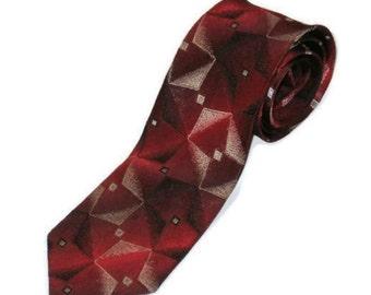 50s Skinny Tie Narrow Burgundy Tie Vintage Neckwear 50s Skinny Tie Maroon Grey Tie Rockabilly Tie Maroon Silver Tie Burgundy Silver Tie