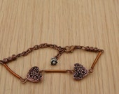 Valentine Bracelet Copper bracelet flower heart bracelet adjustable bracelet multi size bracelet minimalist bracelet light weight bracelet