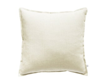 Off white linen decorative pillow cover, off white pillow cover, off white accent pillow, off white linen throw pillow covers