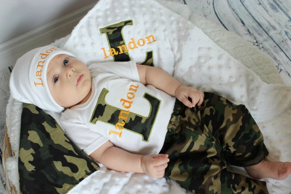 Baby Boy Clothes Personalized Baby Boy Outfit Monogram Baby