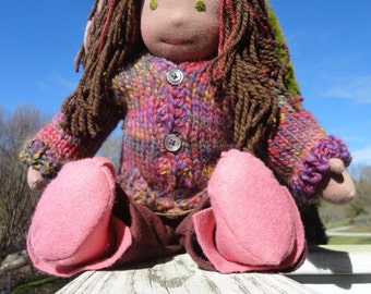 18 inch all natural doll Waldorf inspired