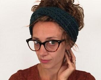 Knit Twist Headband, Headwrap, Earwarmer / THE ZUKO HEADBAND / 36 Custom Colors