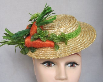 Orange Raffia Carrots Galore Fascinator/Hatinator