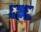 Primitive Firecrackers, Patriotic Burlap Firecrackers