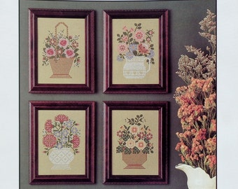 The Prairie Schooler | PRAIRIE FLOWERS | Marigold | Rose | Carnation | Book No 16 | Counted Cross Stitch Pattern | ORIGINAL Not A Reprint