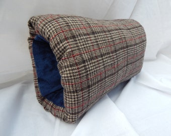 Brown plaid wool man's muff