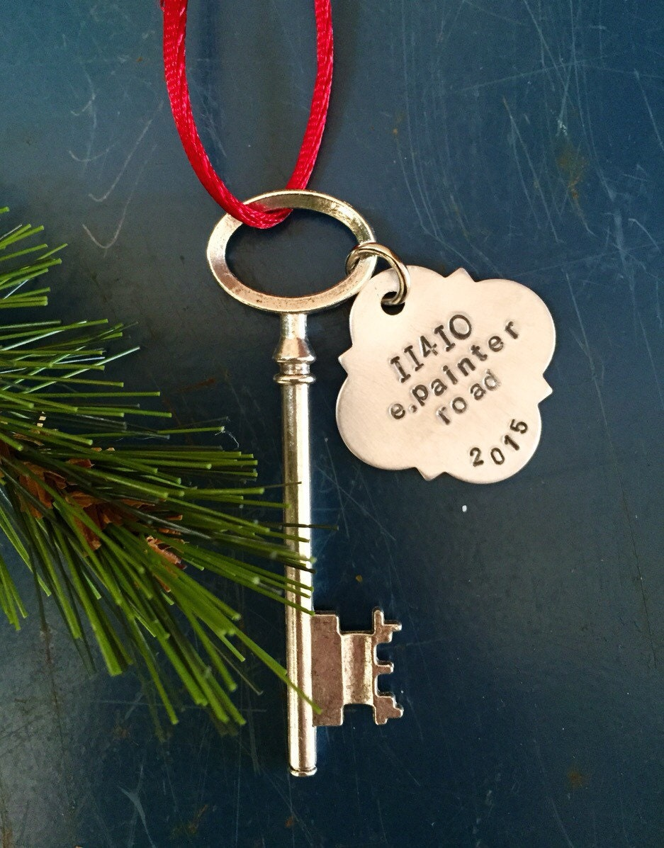 New home ornaments personalized - Personalized Housewarming Gift Skeleton Key New Home Ornament Key Ornament First Christmas First Home Ornament New Home