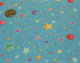 Starts and Planets on Cotton Fabric
