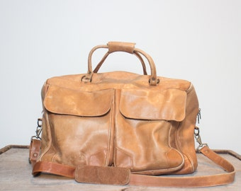 Oversized Colombian Leather Bag Huge Travel Tote Duffle Bag