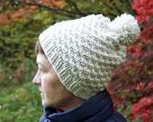 Chunky Wool Hat, Pom Pom Hat, Winter Hat, Women's Hat