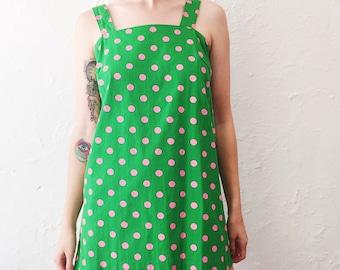 SALE // Retro Polka Dot Micro Mini Baby Doll Dress
