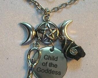 Child of the Goddess Necklace  - Black Tourmaline