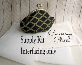 Curvaceous Clutch kit, interfacing ONLY kit, frame clutch purse kit, diy, make your own clutch, DIY bridesmaid gift
