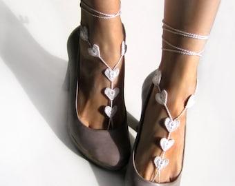 Foot Jewelry- Beach Wedding Barefoot Sandals- Footless Sandals- Gift under 20 Barefoot Wedding Sandals- Bridesmaids Gift- Boho Wedding Shoes