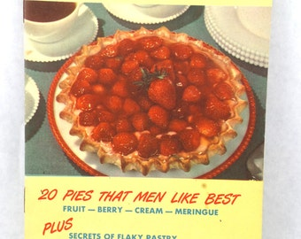 1950s Vintage Cookbook Pies Men Like Cooking Kitchen Book Booklet Housewife