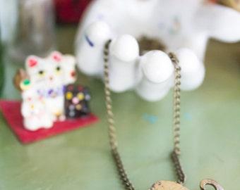 CLEARANCE>>> Handmade Brass Mustache Necklace