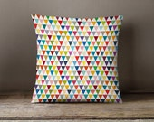 Tiny fresh and colourful flags pillow case, decorative pillows, pillow cover, kids pillow, cushion cover, nursery pillow, kids throw pillow