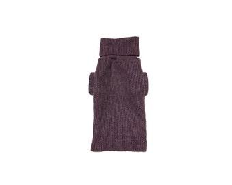 Designer Dog Sweater, Medium Purple Mohair Blend Christmas Holiday, Pet Puppy Apparel Clothes 0310