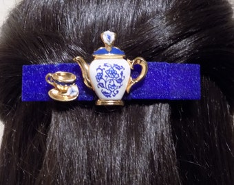Thick Hair Barrette/ Morning Coffee