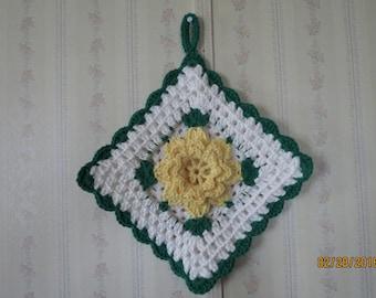 Yellow Rose Pot Holder