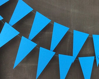 Blue Pennant 6ft Garland: Circus Birthday Party, Rainbow Birthday, Art Birthday Party, Carnival Decor, 1st Birthday Boy, Baby Shower Garland