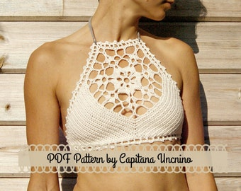 PDF-file for Crochet PATTERN, Venus Crochet Top Sizes XS-L, bikini top