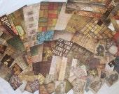 Paper destash. Tim Holtz Ideology scrap cardstock. Reversible, large lot of 117 pieces.