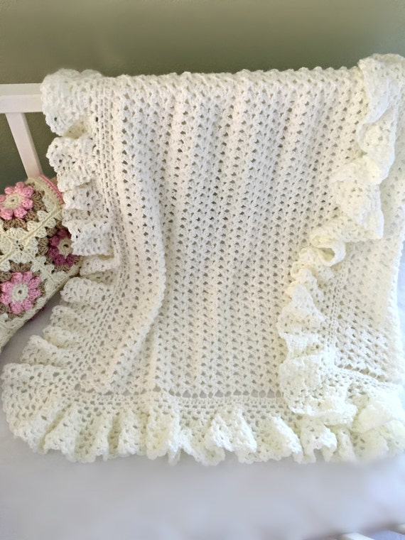 Crochet Baby Blanket Lace Pattern : Crochet Baby Blanket Pattern Baby Blanket by ...