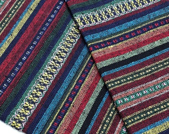 Thai Woven Cotton Fabric Tribal Fabric Native Fabric by the yard Ethnic fabric Aztec fabric Craft Supplies Woven Textile 1/2 yard (WF130)