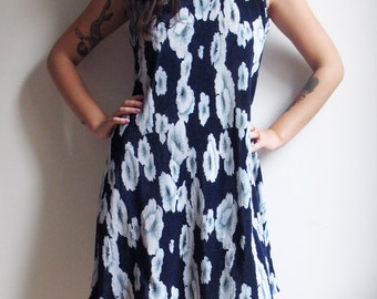 90s Floral Dress Grunge Dress Babydoll Dress 90s Grunge Sleeveless Dress Tank Dress Hippie Boho Dress Medium Large