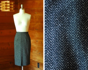 vintage Ann Taylor wool and silk skirt / size medium