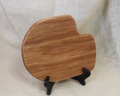 Bar Board or Small Cheese Board Hardwood Hickory With Handle Beautiful Grain