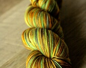 """Sock yarn - 80/20 SW Merino/Nylon - Holiday - """"Wave All Your Fingers At Your Neighbor Day"""""""
