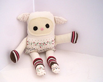 stuffed toy Lamb,toy lamb ,soft toy for babies ,nursery accessories , baby lamb,handmade toy lamb, cuddly toys