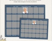 School Composite Template for 28, Sizes 8x10 and 5x7 (SC202) INSTANT Download