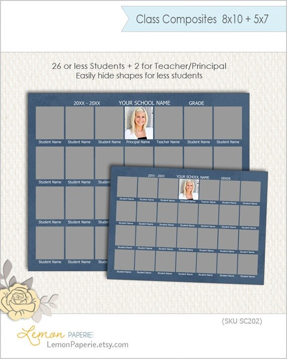 school composite template for 28 sizes 8x10 and 5x7 sc202. Black Bedroom Furniture Sets. Home Design Ideas