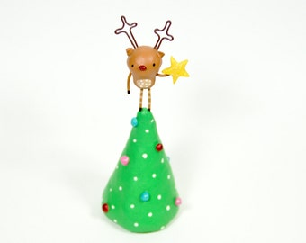 Reindeer on a Christmas Tree