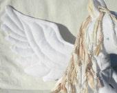 Organic Baby Pegasus, Stuffed Animal, Child's Soft Toy, GOTS Certified Organic Cotton, Silk Ribbon & Alpaca Stuffing
