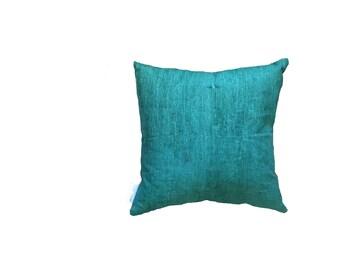Forest Green Linen printed cushion 45cmx45cm