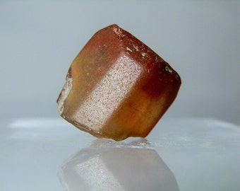 Collectible Mineral Topaz Crystal Lapidary Rough 80 carat Mexican Clear Topaz Red Staining Crystal Piece Natural Facets DanPickedMinerals