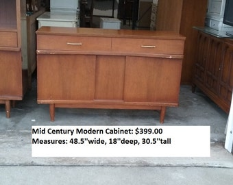 Mid century modern server, tv console, buffet, sideboard, media center, retro, pick up or local delivery