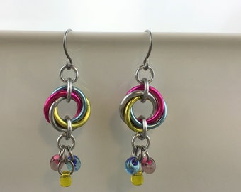 Pan Pride Spiral Earrings - Ready To Ship